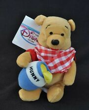 Picnic Winnie the Pooh Bear Mini Bean Bag Disney Store Plush Hunny Pot Kerchief