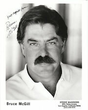 "Bruce McGill Autographed 8""x10"" B&W Photo Reprint"