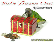 Birdie Treasure Chest - Parrot Fetch Training Prop With Plastic Coins Included