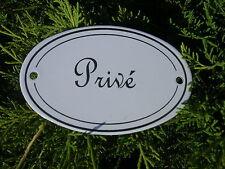 Plaque de porte émaillée OVALE privé émail véritable Fabriquée En France NEUVE