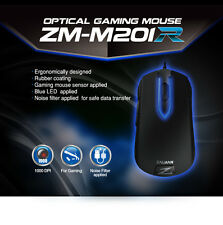 Zalman Optical Gaming Mouse m201r (usb/1000dpi/5 Botones) - zm-m201r - Led Azul