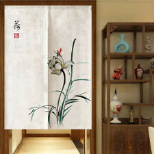 Rod Slot Lotus Screen Partition Curtain Room Wall Dividers Blackout Drapes