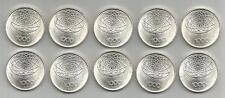 REPUBBLICA ITALIANA - Lotto di 10 pezzi da 1000 Lire argento 1970 FDC