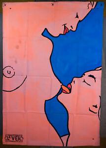 kissing Her breast, wall art, pop art, paintings, explicit art, sexy, hot,erotic