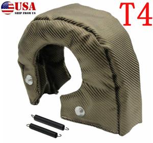 Titanium T4 Turbo Blanket Heat Shield Barrier Turbocharger Cover Wrap Dustproof