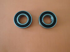 6205-2RS Ball Bearings  25x52x15 Rubber Seals - Quantity of 2