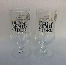 Two Stunning OLD MOUT CIDER Stemmed Pint Glasses  - NEW - Home Bar - Pub