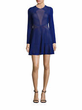 BCBG MAX AZRIA (XS) DAINA ORIENT BLUE LASER-CUT DRESS NWT MSRP$198