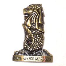 Singapore Merlion Tourist Travel Souvenir 3D Metal Fridge Magnet Gift