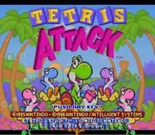 Tetris Attack - SNES Super Nintendo Game