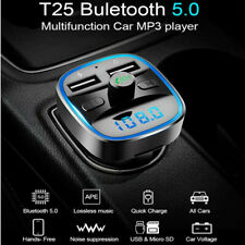 KFZ FM Transmitter Auto Bluetooth 5.0 Radio Adapter Freisprechanlage Ladegerät
