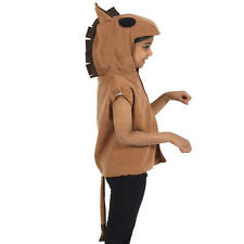 Brown Kids Childs Horse Tabard Fancy Dress Costume With Tail 3-9 Yrs