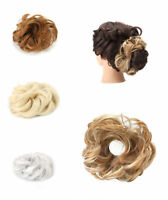 Womens Girls Messy Hair Scrunchie Natural Easy Bun Hair Up Do Piece Extension