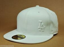New Era 59Fifty Hat Cap Men Los Angeles Dodgers 100% Cotton Flawless Off White