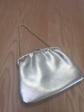 VINTAGE Faux Gold Tone Evening Purse With Chain Handle VGC