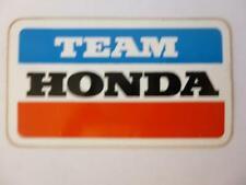 Team Honda Sticker Decal Vintage Motorcycle unused original Racing mint