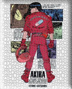 Akira Anime Japanese Red Fighting puzzles Jigsaw puzzles 504 pcs Wall Decoration