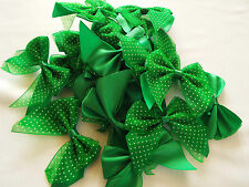 10pcs Multicolor Satin Bows with Bow Satin Motif Approx 35mm