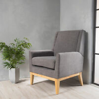 Kronen Mid Century Design Fabric Accent Chair