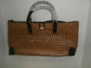 Women's Medium Straw Handbag Wheat NWOT!!!!