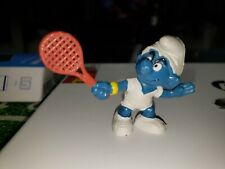 Smurfs Tennis Smurf with Red Racket 20049 Vintage Display Figurine