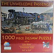 """Sunsout 1000 piece Puzzle. """"Unwelcome Passenger"""" NIB"""