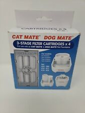 New listing Cat Mate / Dog Mate Replacement 3 Stage Filter Cartridges New x4 Fits all Models