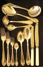 Art Deco Danish Cohr silver plate ATLA Shell Flatware Cutlery set c1930 6 person