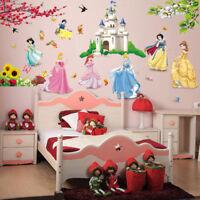 Lovely Castle Princess Wall Stickers For Kids Room Fairy Tale Cartoon DIY