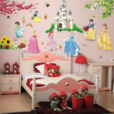 Lovely Castle Princess Wall Stickers For Kids Room Fairy Tale Cartoon DIY