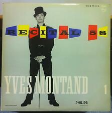 YVES MONTAND recital 58 vol 1 LP Mint- B 77.321 L Philips 1959 France Mono
