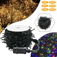 Weihnachts Lichterkette 300- 1000 LED Warmweiß Innen & Außen Party Bunt 31V IP44