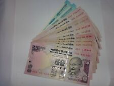 -INDIA PAPER MONEY- 15  'MG' NOTES-RS.50/- 2006 TO 2018-4 SIGNATORIES-2 STAR '*'