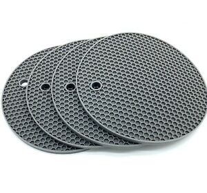 Heat Resistant Hot Pan Stand  Silicon Kitchen Trivet Mat Worktop Protector Grey