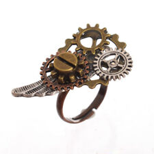 Retro Gothic Steampunk Gear Wing Ring Vintage Steampunk Costume Ring Unisex