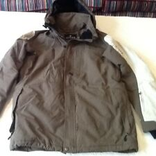 CROSS-OUTDOOR/SKI-PADDED JACKET/HOOD -S=38-40in.CHEST-OLIVE-LINED-ZIP FRONT-NEW