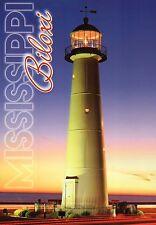 The Biloxi Lighthouse Mississippi, Gulf Coast Landmark MS Light, 1848 - Postcard