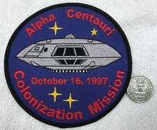 "LOST IN SPACE Jupiter 2 Alpha Centauri Colonization Mission 4.5"" Patch 5 LEFT"