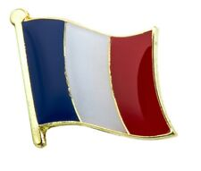 France Flag French Pin Lapel Badge Tricolore High Quality Gloss Enamel