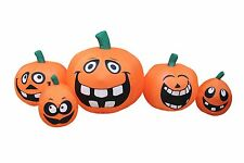 Halloween Air Blown Inflatable Blowup Decoration Silly Funny Face Pumpkins Patch