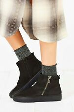Vagabond Bree Zipper Sneaker Boot Black Nubuck Leather Size 40 /10  $160