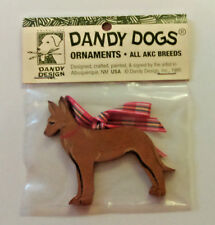 Pharaoh Hound Wood Ornament Dandy Dogs 1995 Handcrafted Signed Christmas
