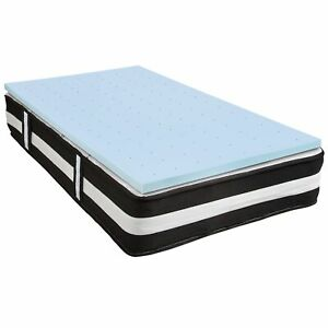 Capri Comfortable Sleep Twin 12 Inch CertiPUR-US Certified Foam Pocket Spring...