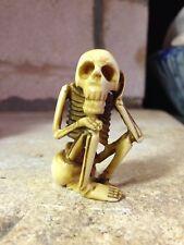 XIXe Netsuke Yokai Gashadokuro Odokuro Signé Squelette Skeleton Skull Signed