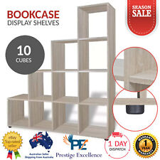 10 Cube Bookcase Display Shelves Storage Organiser Book Shelf Rack Shelving Unit