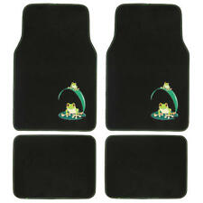 Custom Design Floor Mats, 4 PC Car Accessories for Girls, Green Frog