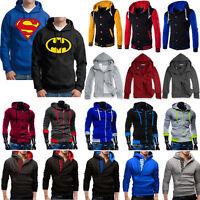 Mens Hoodie Sweatshirt Hooded Pullover Coat Jacket Sweater Sports Casual Outwear