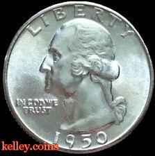 1950 25C Washington Silver Quarter  BU