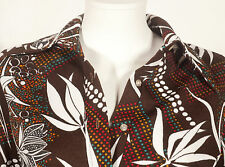 70'S FRENCH VINTAGE PRINT PARTY TUNIC UK 12/14