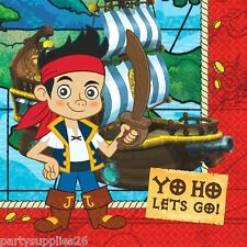 JAKE AND THE NEVER LAND PIRATES PARTY SUPPLIES LUNCH NAPKINS PACK OF 16